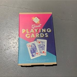 NWT! Giant Playing Cards